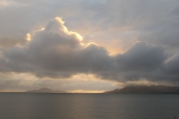 Hinchinbrook Island sunrise over clouds - from Cardwell